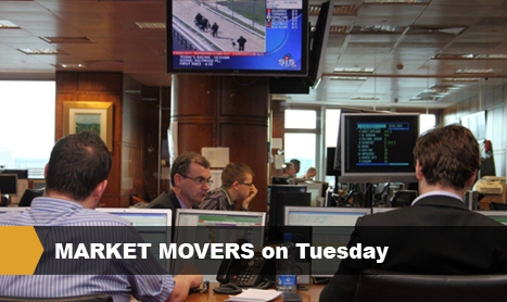 MARKET MOVERS on Tuesday