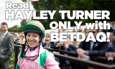 HAYLEY TURNER: Nice to get a big win at Ayr