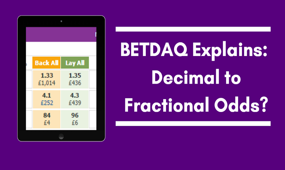 4 1 as a decimal betting odds