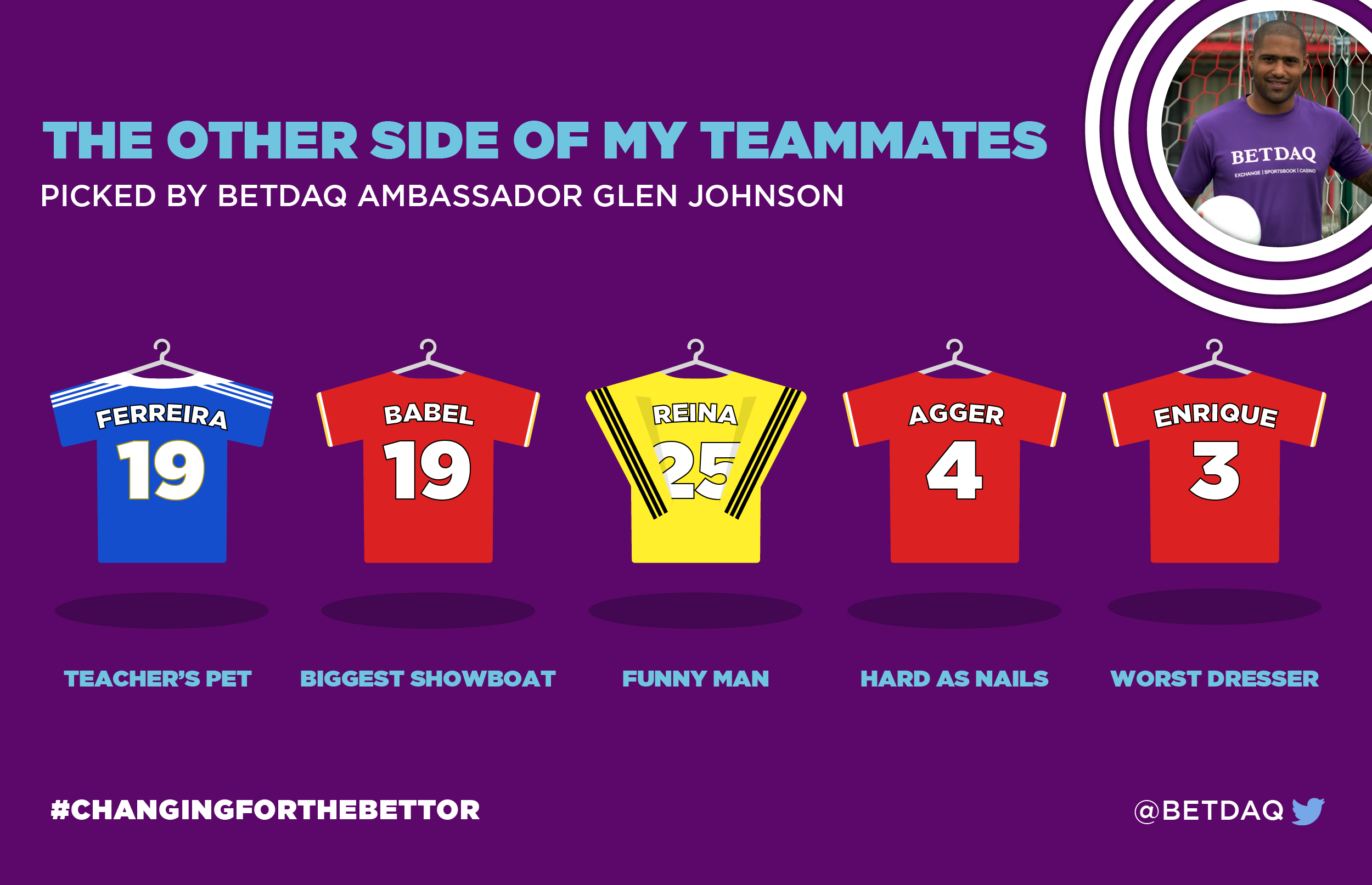 glen johnson teammates