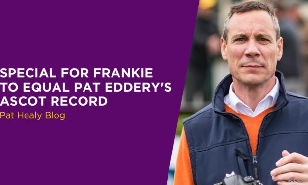 PAT HEALY: Special For Frankie To Equal Pat Eddery's Ascot Record