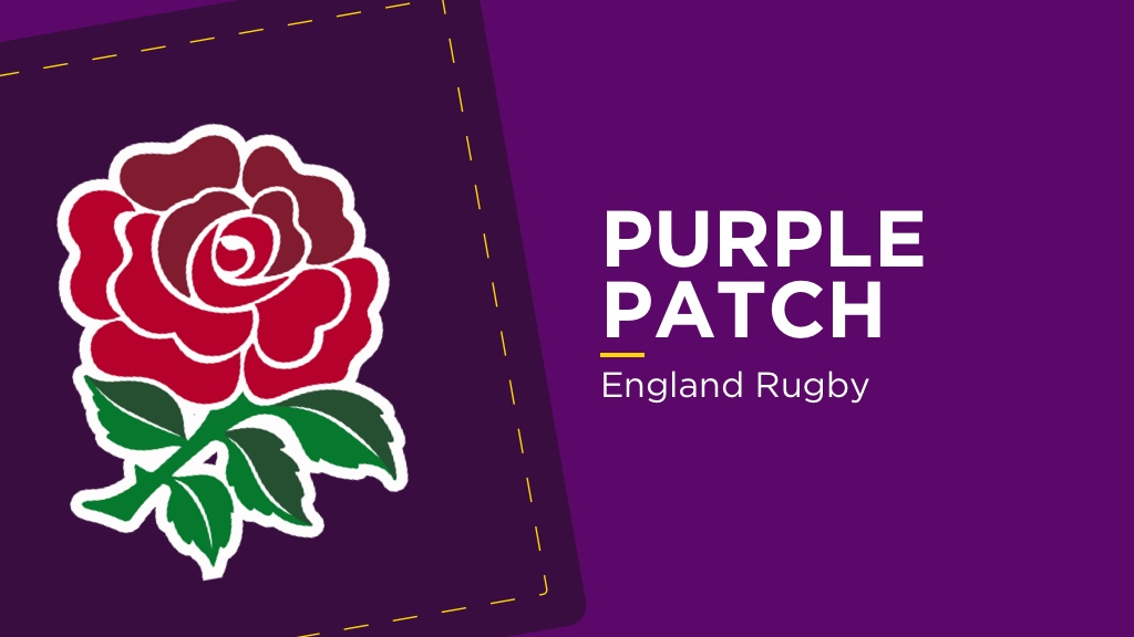 PURPLE PATCH: England Rugby