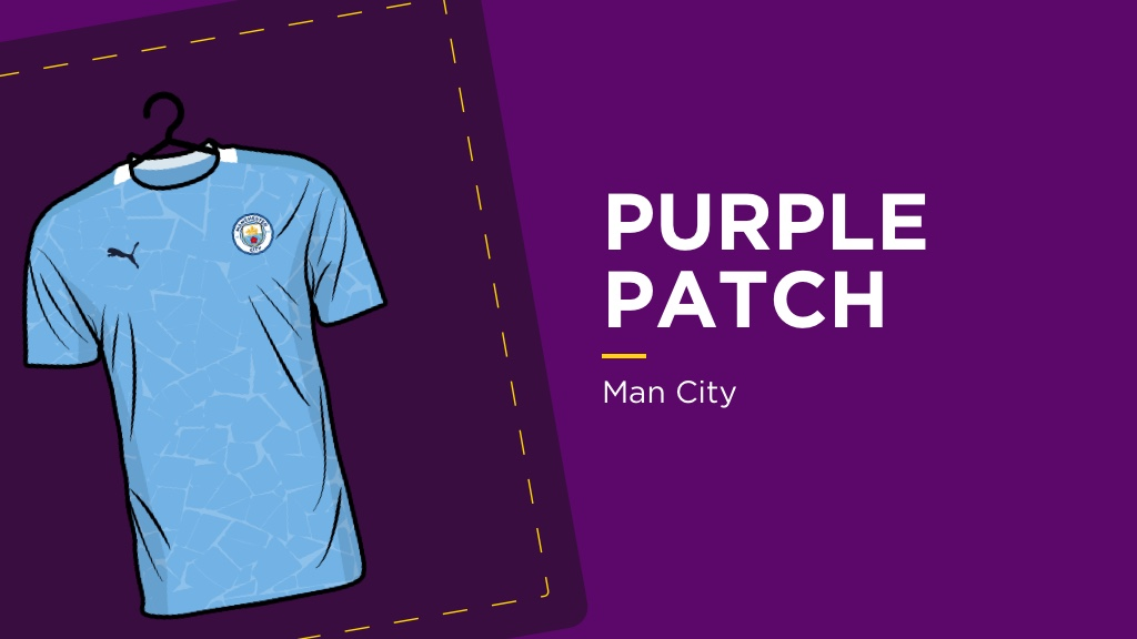 PURPLE PATCH: Man City