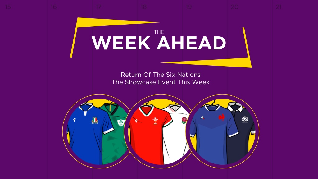 WEEK AHEAD: Return Of The Six Nations The Showcase Event This Week