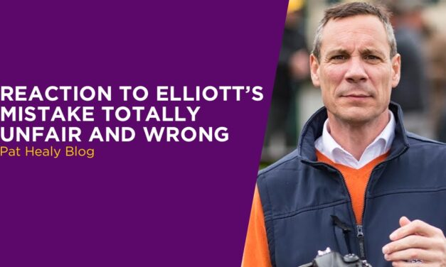 PAT HEALY: Reaction To Elliott's Mistake Totally Unfair And Wrong